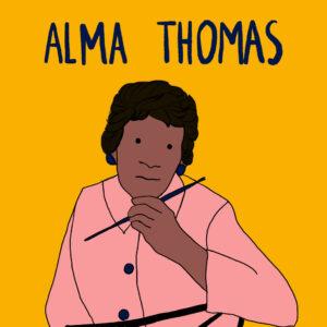 Alma Thomas - in de Wonderkamer - De Wonderacademie - Vicky Bogaert